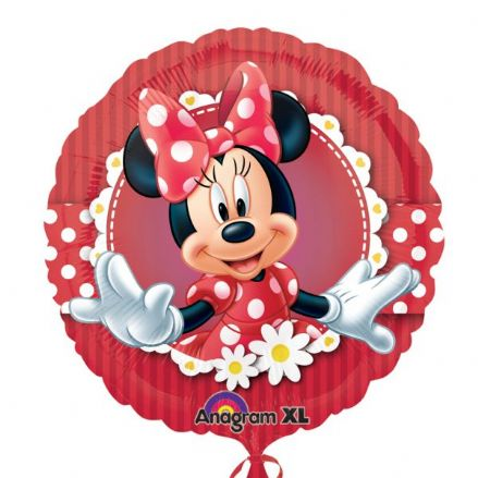 Minnie Mouse Flowers Foil Helium Balloon